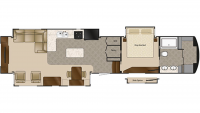 2019 Mobile Suites 44 SANTE FE Floor Plan