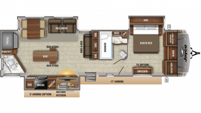 Eagle 332CBOK Floor Plan - 2020