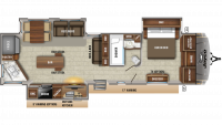 2020 Eagle 332CBOK Floor Plan
