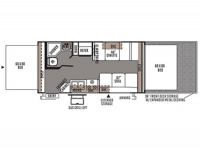 2015 Rockwood Roo 19L Floor Plan