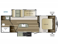 2015 Cougar X-Lite 26-RBI Floor Plan