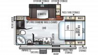 2019 Rockwood Mini Lite 2104S Floor Plan
