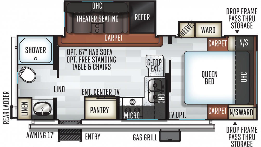 2019 Rockwood Mini Lite 2511S Floor Plan Img