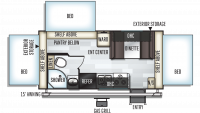 2019 Rockwood Roo 183 Floor Plan