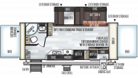 2019 Rockwood Roo 235S Floor Plan