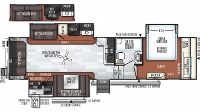 2019 Rockwood Signature Ultra Lite 8288BS Floor Plan Img
