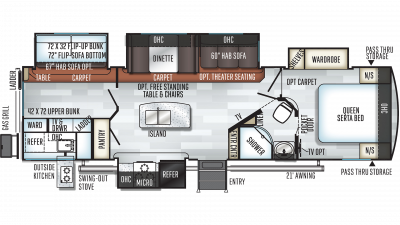 2019 Rockwood Signature Ultra Lite 8327SS Floor Plan Img