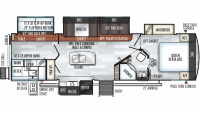 2019 Rockwood Signature Ultra Lite 8327SS Floor Plan