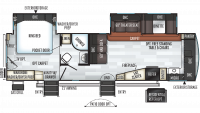 2019 Rockwood Signature Ultra Lite 8335BSS Floor Plan