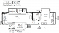 2019 Rockwood Signature Ultra Lite 8288BS Floor Plan