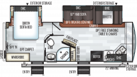 2019 Rockwood Ultra Lite 2608BS Floor Plan
