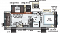 2019 Rockwood Ultra Lite 2612WS Floor Plan