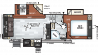 2019 Rockwood Ultra Lite 2620WS Floor Plan