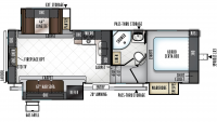 2019 Rockwood Ultra Lite 2650WS Floor Plan