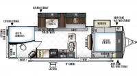 2019 Rockwood Ultra Lite 2702WS Floor Plan