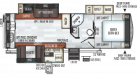 2019 Rockwood Ultra Lite 2707WS Floor Plan