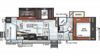 2019 Rockwood Ultra Lite 2781WS Floor Plan