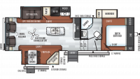 2019 Rockwood Ultra Lite 2889WS Floor Plan