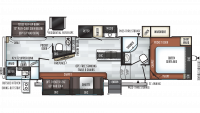 2019 Rockwood Ultra Lite 2892RB Floor Plan