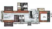 2019 Rockwood Ultra Lite 2898KS Floor Plan