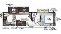 2019 Rockwood Ultra Lite 2902WS Floor Plan