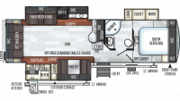 2019 Rockwood Ultra Lite 2906RS Floor Plan