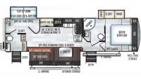 2019 Rockwood Ultra Lite 2910SB Floor Plan