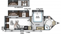 2019 Windjammer 2715VS Floor Plan