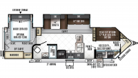 2019 Windjammer 3006V Floor Plan