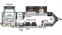 2019 Windjammer 3008V Floor Plan