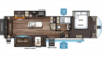 2019 Sabre 32DPT Floor Plan