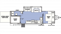 2019 XLR Boost 27QBX Floor Plan