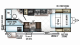 2019 Rockwood Mini Lite 2508 Floor Plan