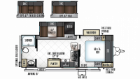 2019 Rockwood Mini Lite 2511S Floor Plan