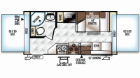 2019 Rockwood Roo 19 Floor Plan
