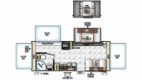 2019 Rockwood Roo 233S Floor Plan