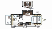 2019 Rockwood Roo 23BDS Floor Plan