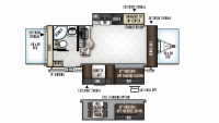 2019 Rockwood Roo 23FL Floor Plan
