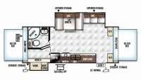 2019 Rockwood Roo 24WS Floor Plan
