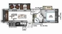 2019 Rockwood Signature Ultra Lite 8288WSA Floor Plan