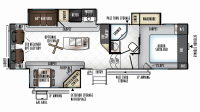 2019 Rockwood Signature Ultra Lite 8289WS Floor Plan