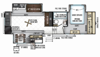 2019 Rockwood Signature Ultra Lite 8290BS Floor Plan
