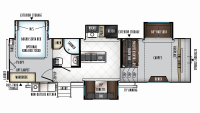 2019 Rockwood Signature Ultra Lite 8297S Floor Plan