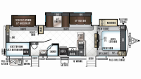 2019 Rockwood Signature Ultra Lite 8311WS Floor Plan