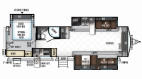 2019 Rockwood Signature Ultra Lite 8324BS Floor Plan