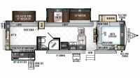 2019 Rockwood Signature Ultra Lite 8326BHS Floor Plan
