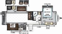2019 Rockwood Signature Ultra Lite 8332BS Floor Plan