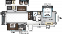 2018 Rockwood Signature Ultra Lite 8332BS Floor Plan