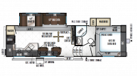2019 Rockwood Ultra Lite 2880WS Floor Plan