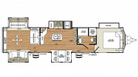 2019 Sierra Destination 403RD Floor Plan